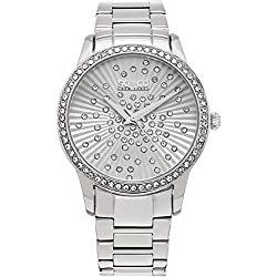 SO & CO New York Women's Quartz Watch with Silver Dial Analogue Display and Silver Stainless Steel Bracelet 5239.1