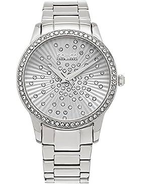 SO & CO New York 5239.1 Damen-Armbanduhr Analog Edelstahl beschichtet
