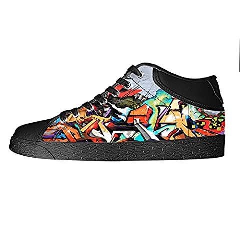 Custom Graffiti Men's Canvas shoes Schuhe Lace-up High-top Sneakers Segeltuchschuhe Leinwand-Schuh-Turnschuhe