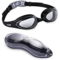 Aegend Swim Goggles, Swimming Goggles No Leaking Anti Fog UV Protection Triathlon Swim Goggles with Free Protection Case for Adult Men Women Youth Kids Child,Black
