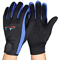 Deportes Accesorios 1Pair guantes de buceo dedo guantes de neopreno Anti Slip flexible Wetsuits cinco for el snorkeling surf natación vela Kayak Buceo Deportes Enthusia ( Color : Blue , Size : S )