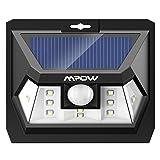 Mpow 10 LED Solarleuchte mit Bewegungssensor, Helles Weitwinkel-Wandleuchte, Wasserdichte Solarlampe mit Bewegungsmelder für Auffahrt, Garage, Wand, Flur.