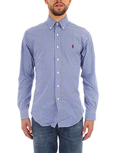 Ralph lauren camicia slim fit cotton stretch a quadri (s)