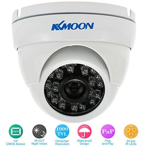 KKmoon Dome Camera 1000TVL Grandangolare della Cupola in Metallo All