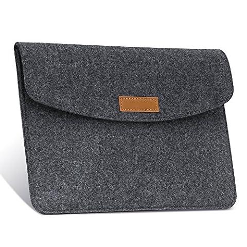 MoKo Universal 7-8 Zoll Felt Sleeve Hülle - Tragbare Filz Schutzhülle Tasche für Apple iPad mini 1 / 2 / 3 / 4, Samsung Galaxy Tab S2 8.0, E 8.0, Tab A 8.0, Tab 4 7.0/8.0, Tab E Lite 7.0, (Apple Tablet Ipad Mini)