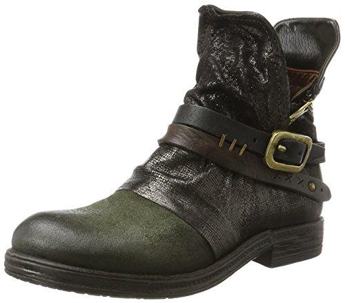 A.S.98 Damen Verti Biker Boots, Grün (Jungle/Nero/Nero/TDM/Jungle/Jungle), 38 EU (Kalbsleder Western-stiefel)