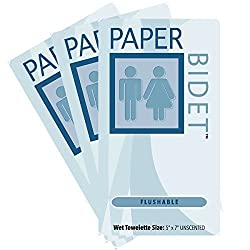 Paper Bidet (NEW)- Flushable, Unscented Single Moist Toilet Wipes 60 Individual Packs Per Order **On Sale**