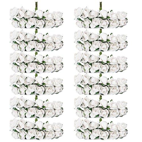 144pz-carta-artificiali-rosa-boccioli-di-fiori-mini-partito-decorazione-feste-bianco