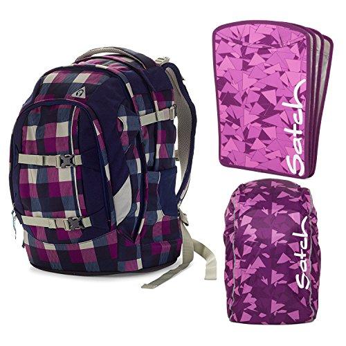 satch Pack Berry Carry 2-teiliges Set Rucksack & Triple Flex lila
