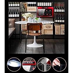 Refroidisseur de vin thermoélectrique de 8 bouteilles - Refroidisseur de vin de thermostat intelligent indépendant - Refroidisseur de stockage de cigare - Mini armoire à thé réfrigérée Ut Ustensi