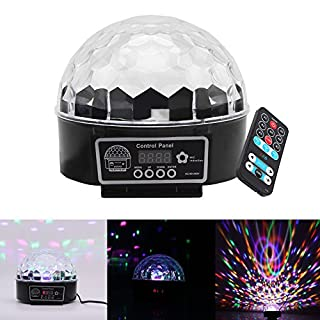 Mini Disco DJ Stage lights 9 Farben, AOZBZ RGB LED Kristall Magic Rotierende Ball Licht mit Sound Aktiv und Fernbedienung, Farbe ändern Erstaunliche Lampe für Club, Party, Hochzeit, Pub, Festival, Geburtstag, KTV