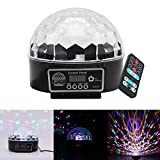 Mini Disco DJ Stage lights 9 Farben, AOZBZ RGB LED Kristall Magic Rotierende Ball Licht mit Sound Aktiv und Fernbedienung, Farbe ändern Erstaunliche Lampe für Club, Party, Hochzeit, Pub, Festival, Geburtstag, KTV