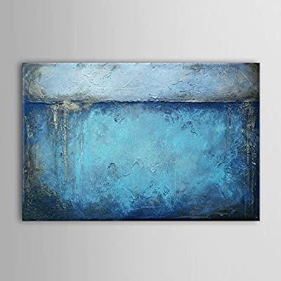 IPLST@ Modern Abstract Blue Oil Painting Large Canvas Art Wall Decoration -24x36inch ( No frame ,without stretcher) - cheap UK light shop.