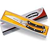 Gelindo-Kitchen-Scissors-Heavy-Duty-Stainless-Steel--Spring-Loaded-Shears-Sharp-Blade--Safety-Clip--Rust-Free--Comfortable-Handle--Great-for-Poultry,-Fish,-Chicken,-Beef,-BBQ,-Herbs-&-Plastic