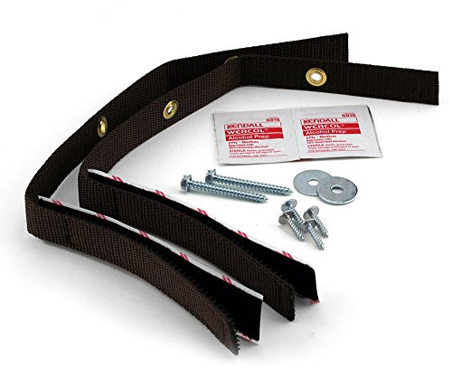 Quakehold! 4162 15-Inch Furniture Strap Kit, Antique Brown by Quakehold! (English Manual)