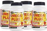 Omega 3 1200 mg Fischöl Hohe Dosierung 4 BOX mit 100 Perlen Ergänzung mit hoher Konzentration Fettsäuren Jede Perle enthält