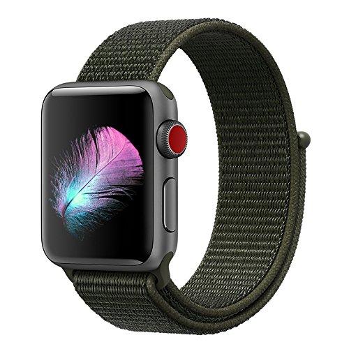 HILIMNY Für Apple Watch Armband 42MM, Ersatz für iwatch Armband Series 3, Series 2, Series 1 (Cargo Khaki, 42MM)