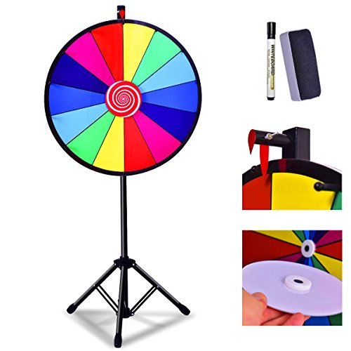 ning Tab Fortune Spinning Color Prize Wheel Tischplatte Boden Dry Erase Game Party Color Preis Wh ()