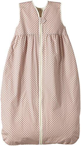 Lana Natural Wear Baby - Mädchen Schlafsack Molton Punkte, Gepunktet, Gr. 100, Rosa (Punkte Rose Water-Ombre Blue 9306)