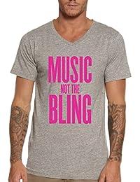 Music Not The Bling Men's V-Neck T-shirt