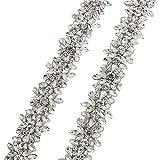 Rhinestone Applique Trim por la yarda con cristales impresionantes para el vestido de boda cinturón...