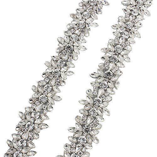 Strass Applique Trim durch den Hof mit atemberaubenden Kristallen für Hochzeitskleid Gürtel oder...