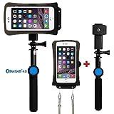 DiCAPac Action Handyhüllen Set für Yezz Andy 5.5EI / Andy 5.5T LTE VR - Handytaschen Set/Schutzhüllen Set inkl. Halterset mit Bluetooth Fernauslöser, Selfie Stick