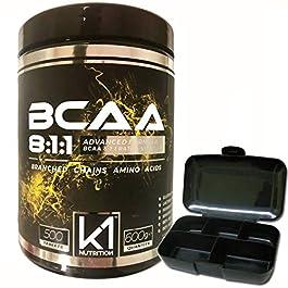BCAA 8:1:1 100 compresse K1 Nutrition Integratore di Aminoacidi Ramificati 811 con Vitamina b1 e b6 Advanced Leucine…
