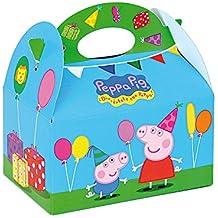 ALMACENESADAN 0653, Pack 4 cajitas de Carton para chuches Peppa Pig, para Fiestas y