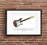 George Morgan Illustration Rory Gallagher's Fender Stratocaster Limited Edition Fine Art Print A3 Größe