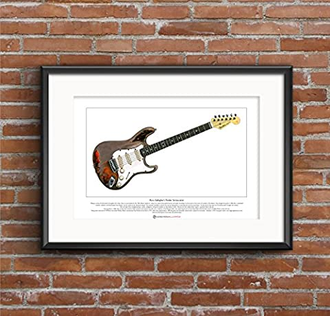 Rory Gallagher's Fender Stratocaster Limited Edition Fine Art Print A3 size