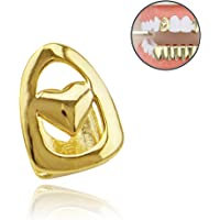 Gold Silver Cross Single Teeth Men's Hiphop Top Tooth Grills Dental for Women Hip Hop Rapper Jewelry Gift