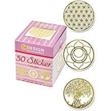 Avery Zweckform 56817 Sticker auf Rolle, Lebensblume (38 mm, im Spender) 50 Aufkleber