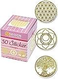 AVERY Zweckform 56817 Sticker auf Rolle (Lebensblume, 38 mm, 50 Aufkleber, im Spender)