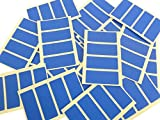 80 Labels 50x20mm Rectangle, Royal Blue Colour Code Stickers, Self-Adhesive Sticky Coloured Labels