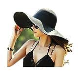 Best Los sombreros de ala - Sombrero de Playa con Ala Ancha Plegable para Review