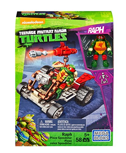 Mutant Ninja Turtles Figure With Vehicle - Pizza Speedster Raph (Dpf60) (Raphael Ninja Turtle Waffe)