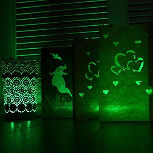 ZTYR Batteriebetriebene LED grün flammenlose Flackern Tee Kerzen -