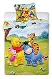 Winnie Puuh Bettwäsche, Bettwäsche Baby 100% Baumwolle, Bettbezug 135x 100cm + Kissenbezug 40x 60cm