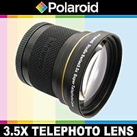 Super téléobjectif 3.5x de Polaroid Studio Series, inclut une housse d'objectif et les couvercles d'objectif pour l'Olympus Evolt E-30, E-300, E-330, E-410, E-420, E-450, E-500, E-510, E-520, E-600, E-620, E-1, E-3, E-5 Reflex numériques Qui avez l'une des ( 35mm, 50mm) Olympus lentilles