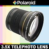 Super téléobjectif 3.5x de Polaroid Studio Series, inclut une housse d'objectif et les couvercles d'objectif pour l'Nikon D40, D40x, D50, D60, D70, D80, D90, D100, D200, D300, D3, D3S, D700, D3000, D5000, D3100, D3200, D7000, D5100, D4, D800, D800E, D600 Reflex numériques Qui ont la Nikon (28-80mm, 55-300mm, 50mm f/1.8G) lentille