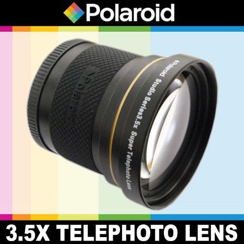 Super Telefoto 3.5x di Polaroid Studio Series, include una custodia di obiettivo e i coperchi di obiettivo per l
