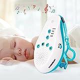 AUVSTAR White Sound Sound Machine pour bébé sommeil ST60 générateur de sucette de sommeil avec 5 sons de thérapie apaisante, capteur vocal, clip intégré portable pour Voyage et usage à la maison