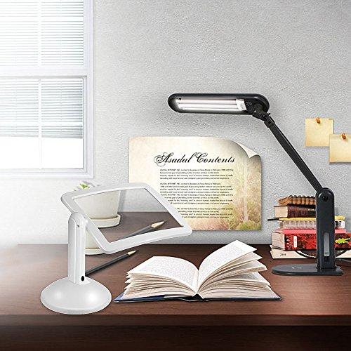 careshine New LED-Schreibtisch-Lupe Lupe, Licht Hände frei 3x Lesung Ganzseitige Lupe mit 360Rotation–Ideal zum Lesen Inspektion, Reparatur, Handwerk, Handwerk, Naht Herd