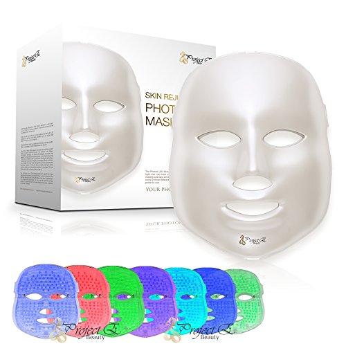 Project E Beauty Color de piel tratamiento par la luz LED Photon Therapy 7rajeunissement Facial blanchissant el cuidado de la piel belleza Daily Mask