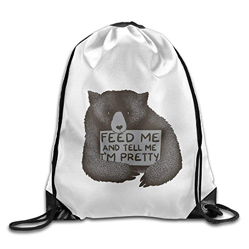 ewtretr Sacche Coulisse Zaino, Unisex Bag Feed Me And Tell Me I'm Pretty Funny Drawstring Backpack