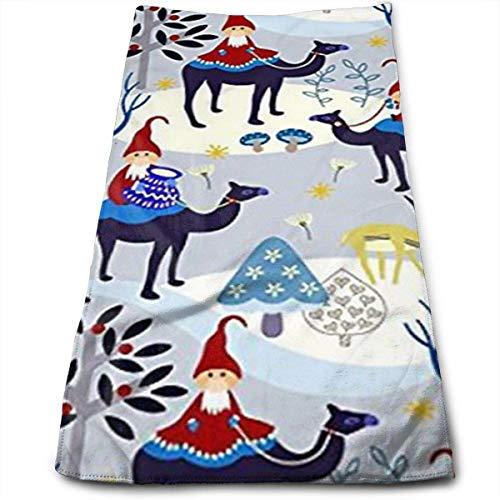 Osmykqe Christmas Gnomes Design Challenge Microfiber Kitchen Towels Dish Towels Tea Towels(12 X 27.5 Inch) (Gnome Dodger)
