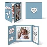 20 x Geburtskarten Babykarten Mädchen Junge Baby Danksagungskarten Dankeskarten individuell - Sonne Mond und Sterne