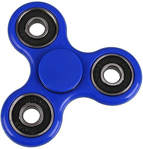 Fidget Spinner 608 Four Bearing Amazing Spin Time ! Premium Quality Material Best Value for Money Hand Spinner Tri-Spinner Ultra Speed Toy (BLUE)