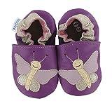 Krabbelschuhe Schmetterling 'Violetta' in 3 Farben von baBice, Größe Schuhe:18/19 (6-12 Mon);baBice Schuhe:lila